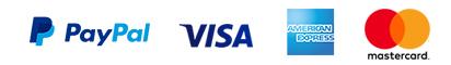 Paypal Plus bei Online Buchung, Visa, Mastercard und American Express beim Fahrer
